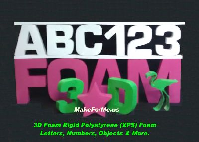 Best Prices on 3D Rigid Extruded Polystyrene (XPS) Foam Letters & Numbers From MakeForMe.us