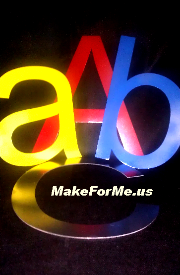 Best Prices on Colorful METAL Letters, Numbers, Objects. From MakeForMe.us